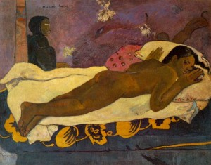gauguin 1892 spirit-dead-watching